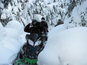 Motoneige hors piste, Chic-Chocs, GaspésieAdrénaline Hors Piste