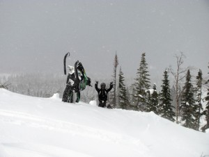 Motoneige hors piste, Chic Chocs, GaspésieAdrénaline Hors Piste