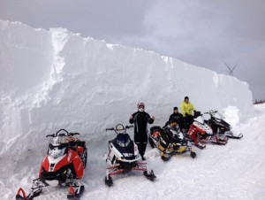 motoneige hors piste, Chic-Chocs, Gaspésie Adrénaline Hors Piste